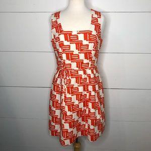 Shoshanna Zulu Print Tie Waist Pocket Dress Sz 10
